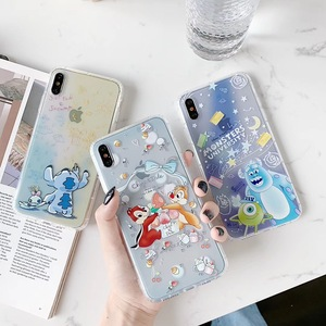 Cute Stitch Chip Dale Cartoon Toy Story Phone Case For Apple iPhone 7 7Plus 8 8plus 6 6s Plus X XS 11 Pro Max Xr Alien TPU Cover(China)