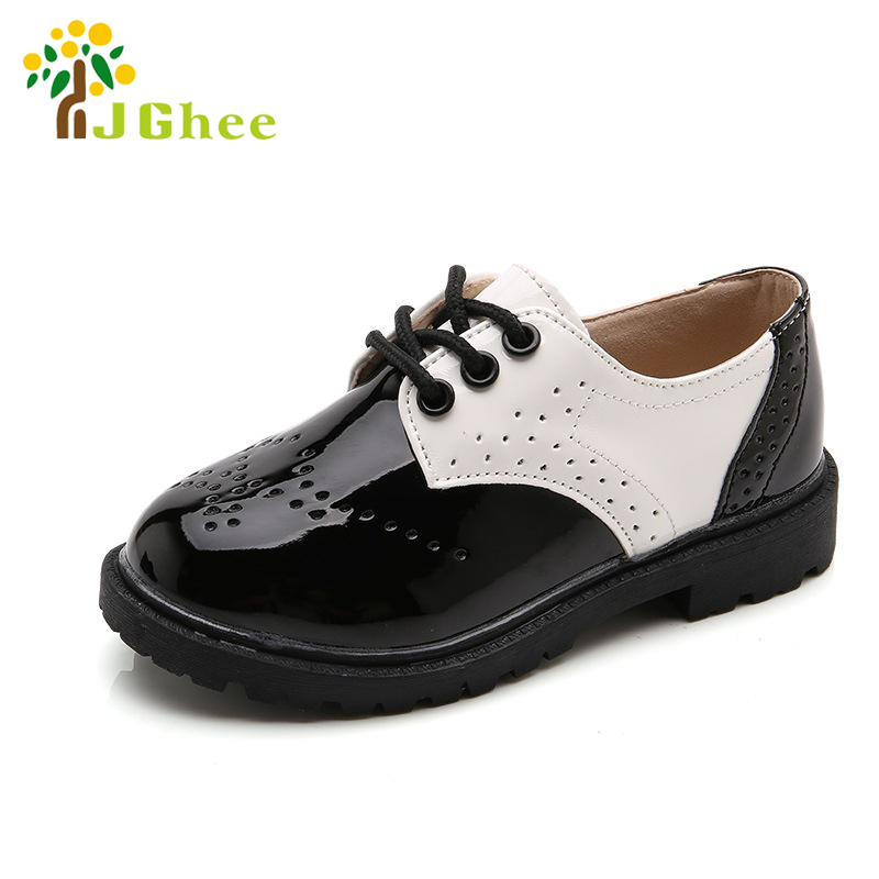 New Spring Summer Autumn Kids Shoes For Boys Girls British Style Children's Casual Sneakers PU Leather Fashion Shoes