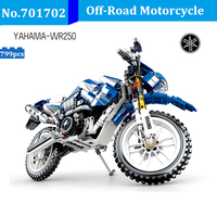 DIY 799pcs Legoing Technic Off Road Motorcycle Building Blocks Motorbike Model Bricks Compatible With Legoingly Toys For Kids