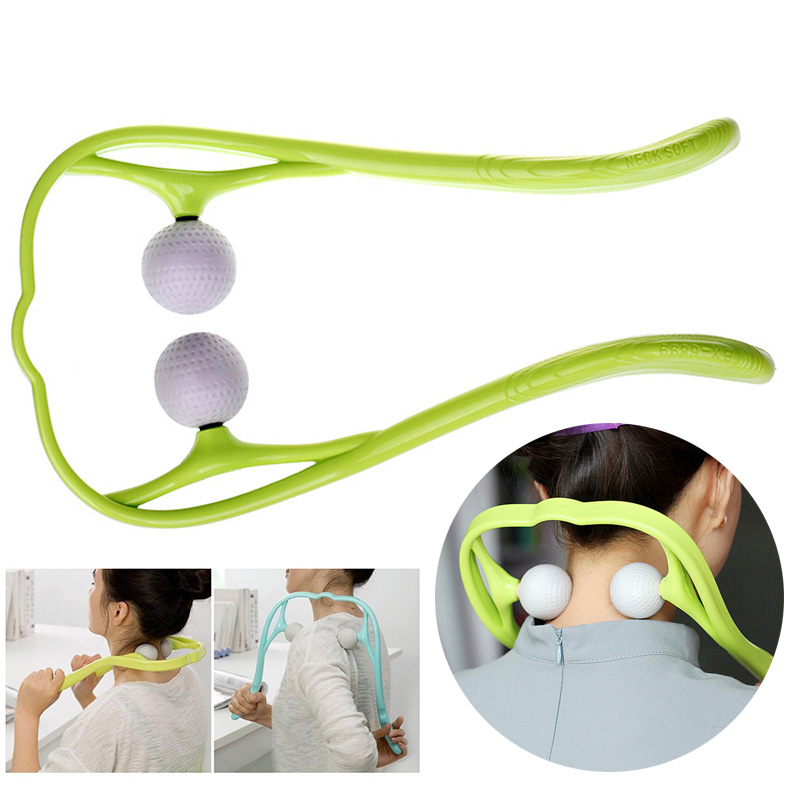 Cervical Massage Stick Body Neck Roller Massager U Shaped Manually Tool Health Therapy Stress Relax Soft Reduces Fatigue DFA