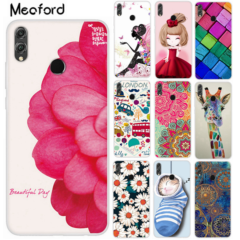Case For Huawei <font><b>Honor</b></font> <font><b>8x</b></font> jsn l21 Phone Cover Cute Silicone TPU Coque 6.5