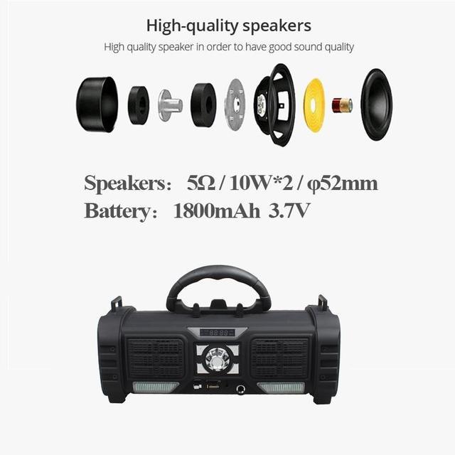 Yilinesye Portable bluetooth Speaker Support TF card FM radio wireless Waterproof column Subwoofer soundbar for Computer speaker