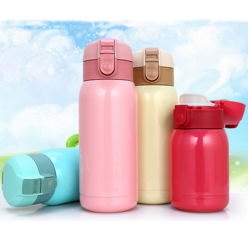 Stainless Steel Coffee Thermos Cup Insulated Water Bottle Taza Termo Cute Flask Pink Beige Orange Blue Red In Vacuum Flasks