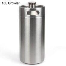 10L 352oz Portable 304 Stainless Keg Beer Growler Home Brew Draft Beer Pail Bar Bucket Barrel стоимость