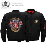 Dropshipping USA Size Unisex MA 1 Men Marine Corps Flight Jacket Printed Bomber Jacket Pilot Jacket Motorcycle Jacket