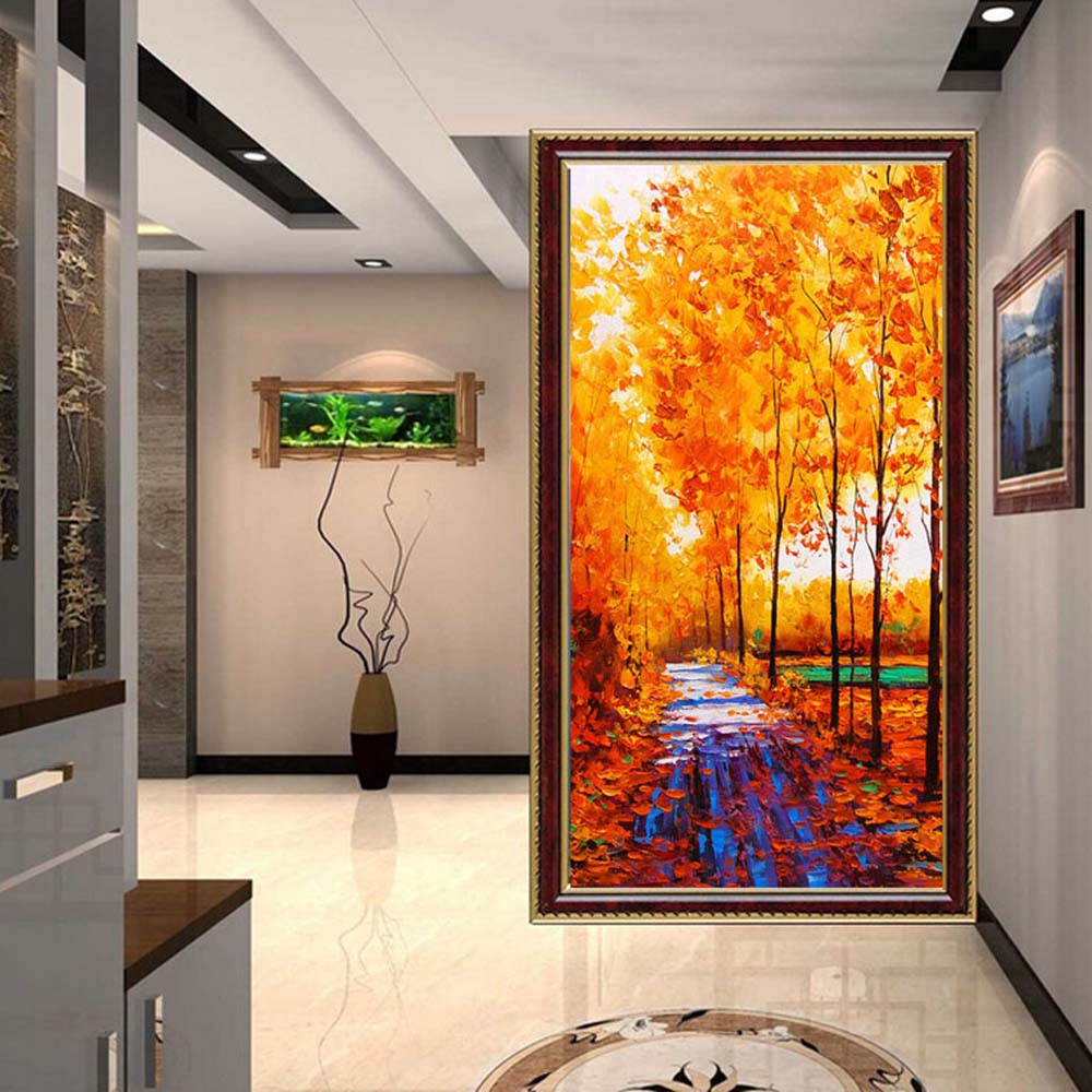 3d Photo Mural Wallpaper Wall Paper for Living Room Home Wall Decor Autumn Landscape Entrance Wallpaper Nature Custom Any Size custom photo wallpaper european town street view entrance background modern painting mural wall papers home decor living room