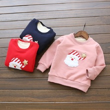 Kids Jackets 2016 Christmas sweater Children Clothing Cartoon Rabbit Fleece Outerwear Girls Clothes Jacket Winter Coat