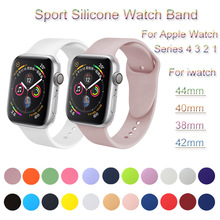 Sport Silicone Watch Band For Apple Watch 4 3 2 1 Loop Bracelet Strap For iwatch 44mm 40mm 38mm 42mm Soft Watchband Accessories sport silicone watch band for apple watch 4 3 2 1 loop bracelet strap for iwatch 44mm 40mm 38mm 42mm soft watchband accessories