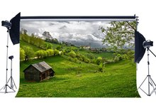Spring Backdrop Rustic Village Jungle Forest Backdrops Fresh Flowers Green Grass Meadow Nature Background