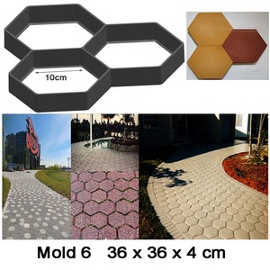 Image 2 - Cross border for European and American hot selling cement floor tiles DIY paving mold pavement mold