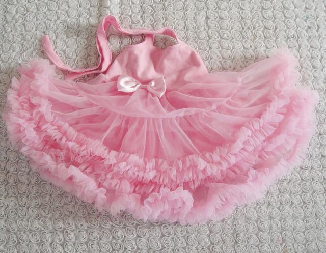 Princesa Niña Del Vestido Del Tutú Pettidress Traje vestido rosa de verano estilo KP-PPS008