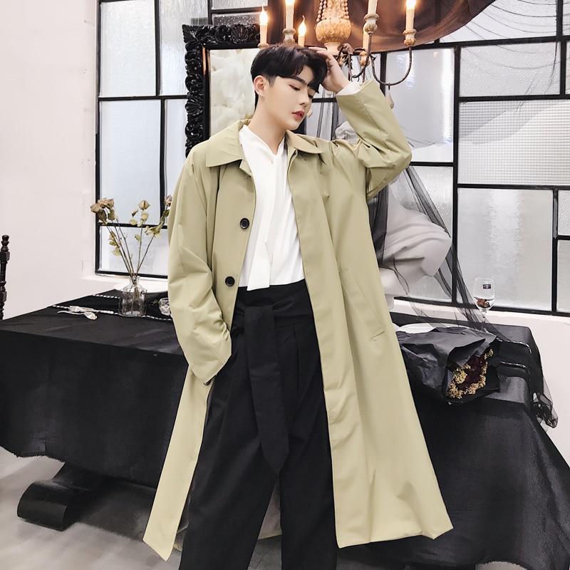 Men Fashion Casual Long Slim Fit Shiny Suit Jacket Male Hip Hop Dancer Singer Stage Costume