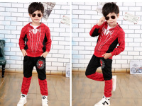 Spiderman Mascot Costume Red Black Spider Man Anime Cosplay Children Clothes Set Halloween Costume For Boys
