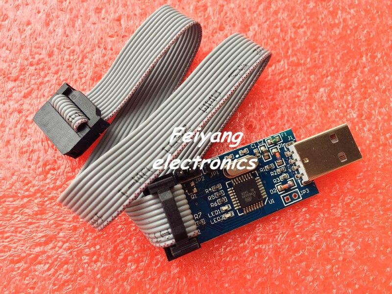 1pcs New USBASP USBISP AVR Programmer font b USB b font ISP font b USB b