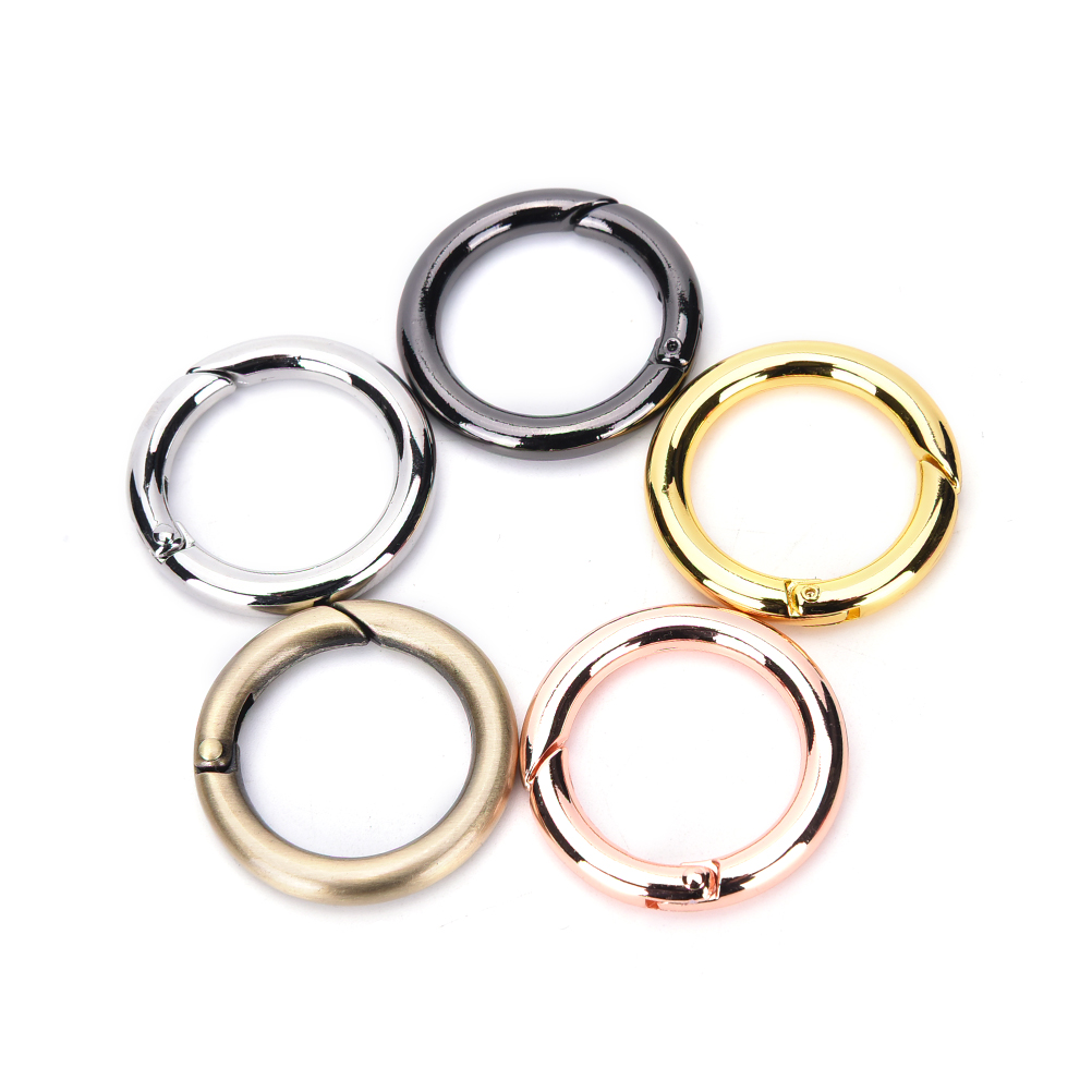 1 PCS 28mm Silver/Gold Plated Alloy Round Spring Snap Hooks Clip