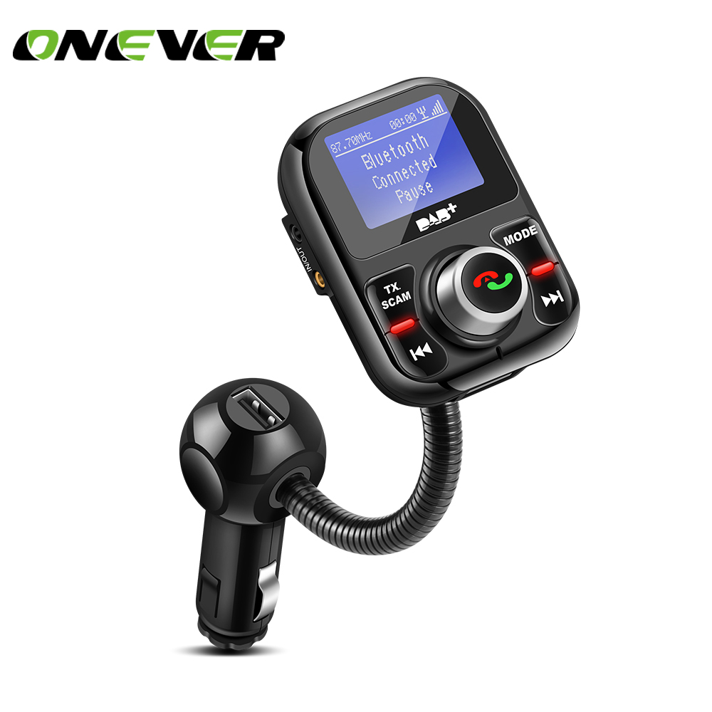onever car fm transmitter bluetooth dab dab receiver with. Black Bedroom Furniture Sets. Home Design Ideas