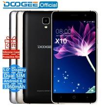 En Stock Maintenant DOOGEE X10 mobile téléphones 5.0 Pouces IPS 8 GB Android6.0 téléphone intelligent Dual SIM MTK6570 5.0MP 3360 mAH WCDMA GSM téléphone portable