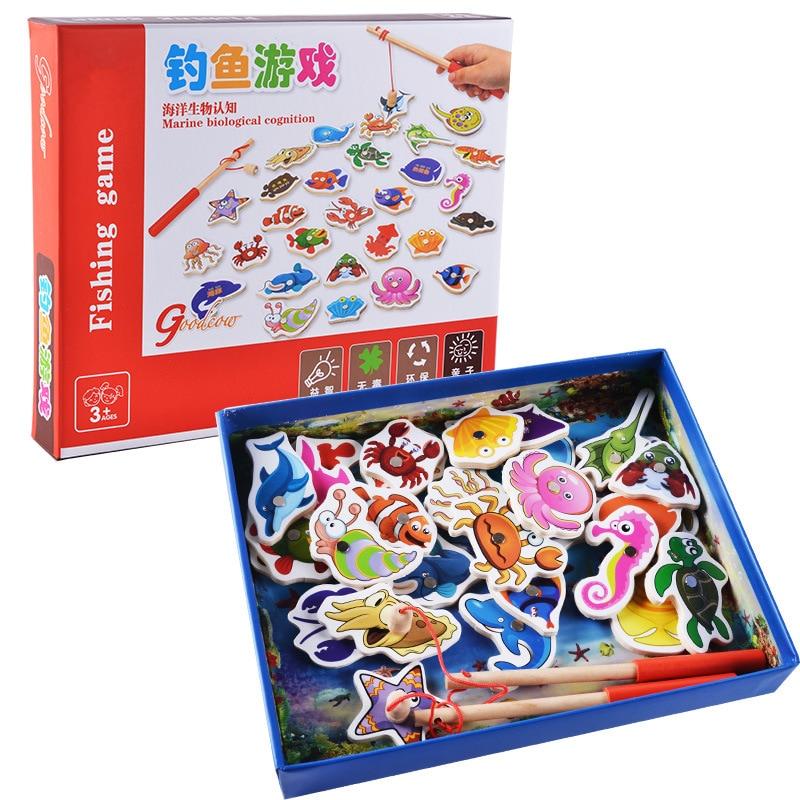 Kids-Fishing-Toys-32Pcs-Fish-Wooden-Magnetic-Fishing-Toy-Set-Fish-Game-Children-Educational-toys-for-Boy-G-1