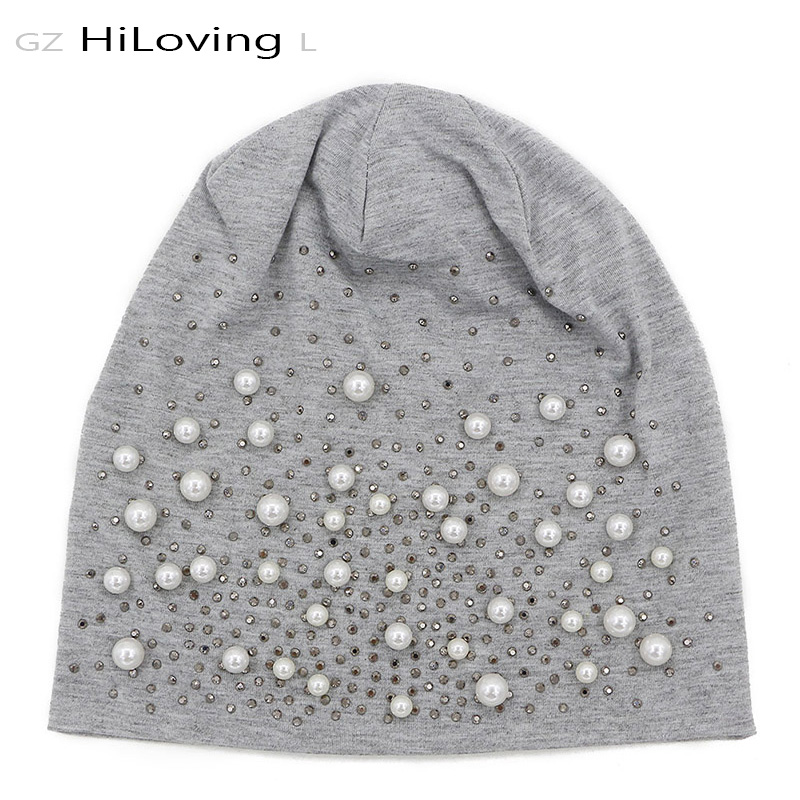 GZHilovingL News Womens Diamonds Hats Autumn Winter Spring Preals Womens Beanies Hats Soft Casual Polyester Slouch Beanies Hats news