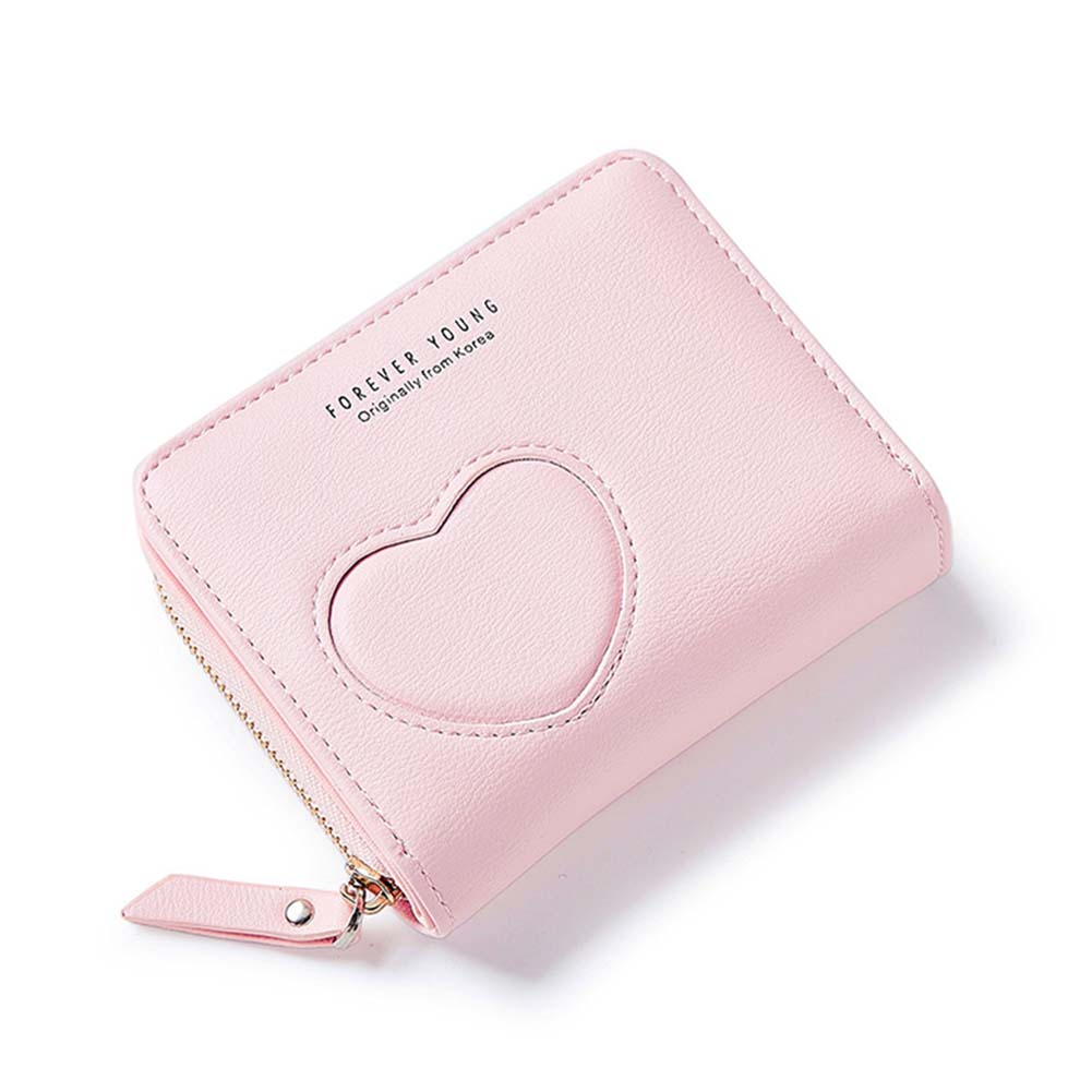 Simple Fashion Women Female Solid Color Mini Wallet PU Leather Purse Ladies Girls Coin Zipper Pocket Card Holder Bag Popular