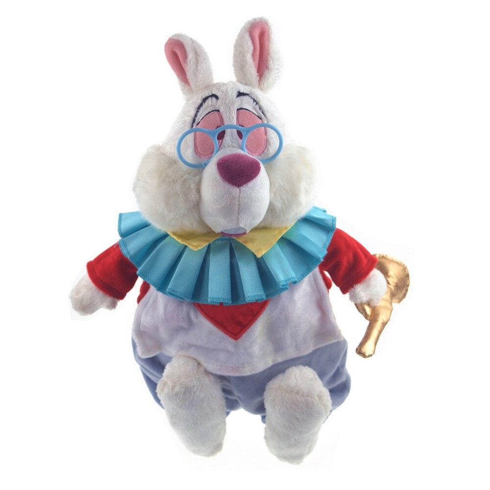 Alice au Pays Des Merveilles En Peluche Lapin Blanc En Peluche Animaux 38 cm Bébé Filles Jouets pour Enfants Enfants Cadeaux