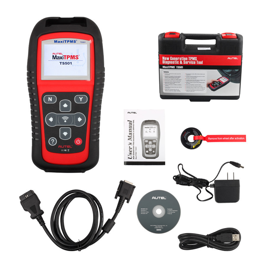 Promotion Autel MaxiTPMS TS501 font b TPMS b font Diagnostic And Service Tool 1 Year Free