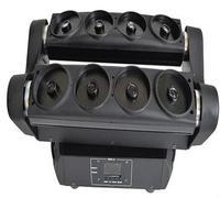 8 глаза полноцветный RGB Перемещение лазерной головки паук диско DJ Свет этапа r150mw b120mw g60mw DMX двигать головой освещения для КТВ Bar