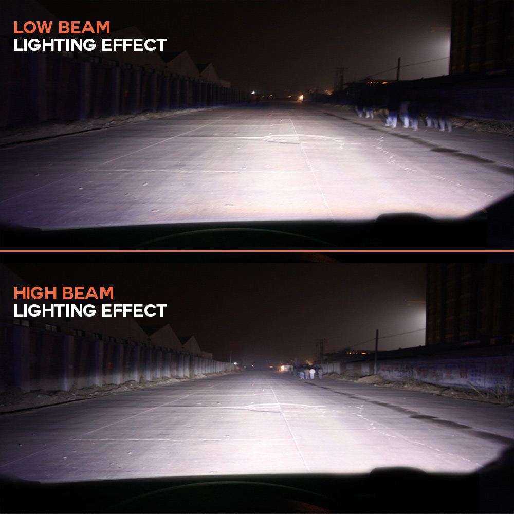 NIGHTEYE Super Bright Car Headlights H7 LED H4 led H1 H8 H11 HB3 9005 - Bilbelysning - Foto 4