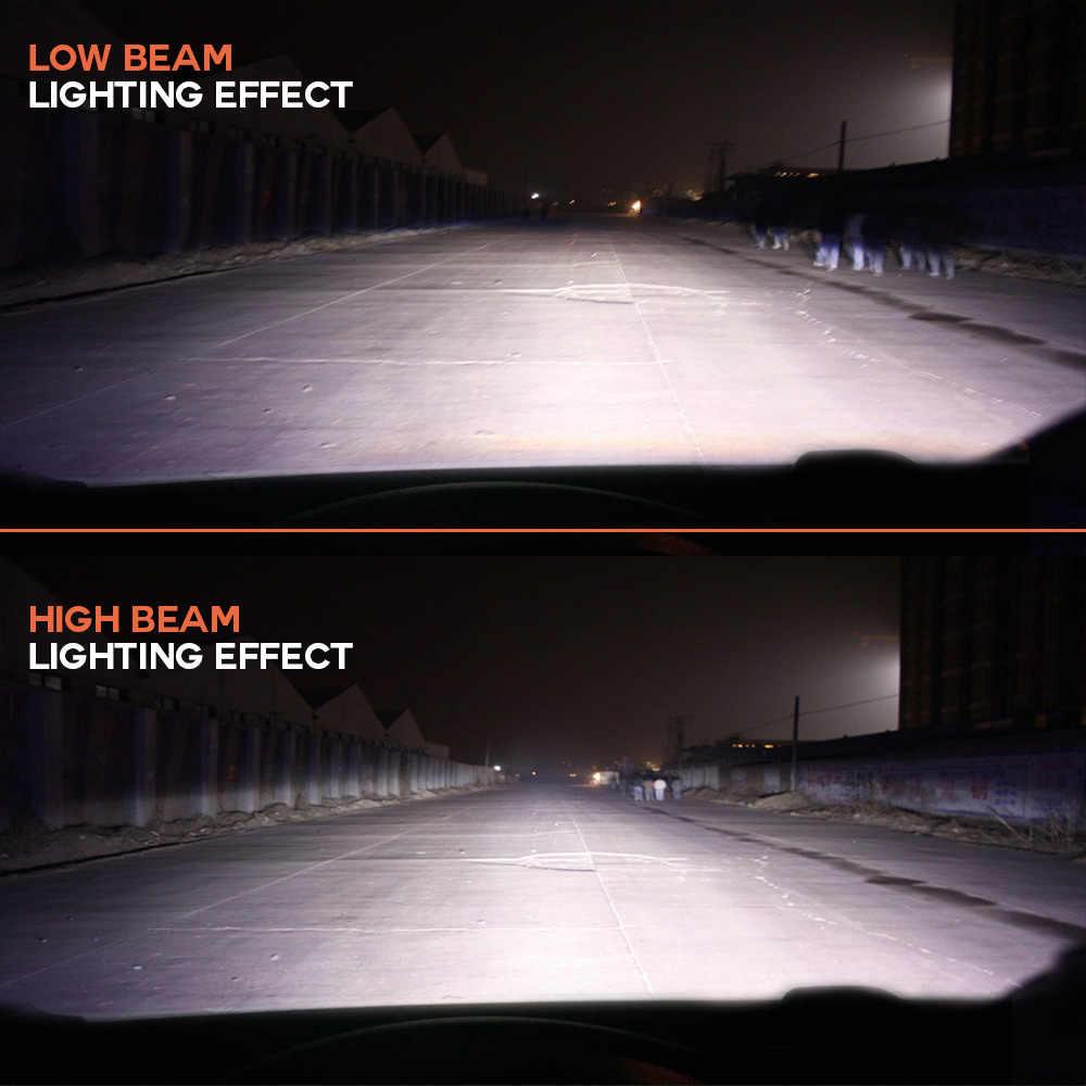 NIGHTEYE-phares de voiture Super brillants   H7 9005 H4 9006, H1 H8 H11 HB3 6500 HB4, ampoule automatique 72W 9000LM, phare automobile K