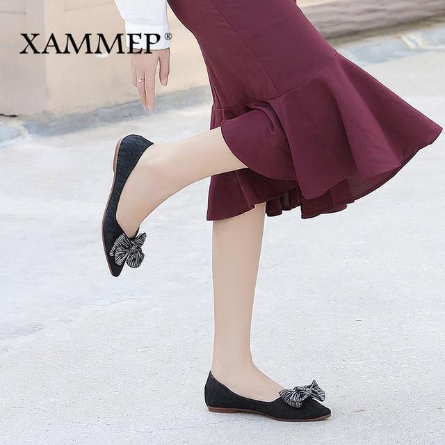 Женская брендовая обувь на плоской подошве, женские кроссовки, женская повседневная обувь из мягкой искусственной кожи, высокое качество, весенне-осенние Балетки с круглым носком, Xammep