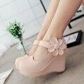 Estudiantes de primavera Y Otoño Nueva Lolita Princesa Dulce Niña de Flores Zapatos de Las Mujeres