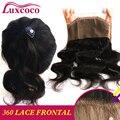 7A Brasileiro Do Cabelo Humano 360 Fechamento de Renda Frontal Pré Arrancadas com Natural Da Linha Fina Venda Quente Do Laço Frontal 360 Com Bebê cabelo