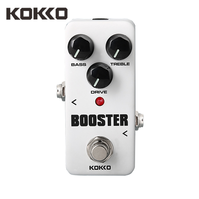 KOKKO FBS2 Band EQ Mini Booster Effect Guitar Pedal Ture Bypass Guitarra Effects For Electric Bass Guitar Parts Accessories
