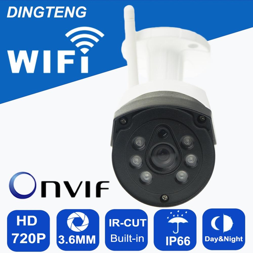 Wireless WIFI Camera 6 Array Leds Onvif Night Vision IR IP66 Waterproof Metal Security 720P/960P Optional P2P Bullet Kamera gadinan h 264 1 0mp 1 3mp 25fps onvif 720p 960p optional p2p 6pcs array ir leds ir cut night vision abs plastic ip camera