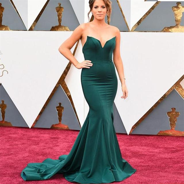 7105393d4 Vestidos de noche color verde olivo - Vestidos baratos