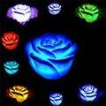 Romántica Rosa de Navidad Flor de luz nocturna Escritorio Dormitorio Partido Decoración Luz de la Noche LLEVÓ La Lámpara De Mesa lámpara de noche cambia de color
