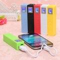 Banco do poder 2600 mah com tela de lcd carregador protable & powerbank de backup de energia Compatível com telefones celulares cobrado por USB