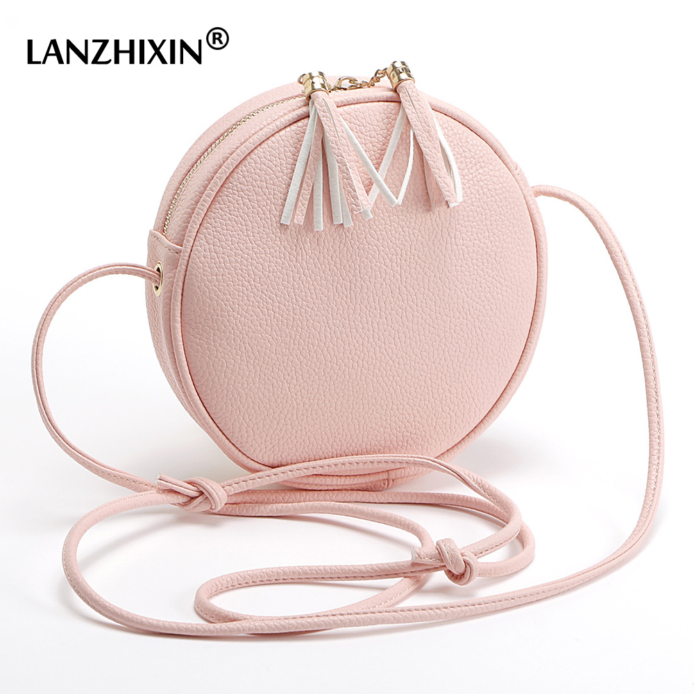ee54617a4c05 Detail Feedback Questions about Lanzhixin Korean Cute Candy colored Small  Round Tassel Bags Women Messenger Bags Ladies Lovely Shoulder Crossbody Bags  SD ...