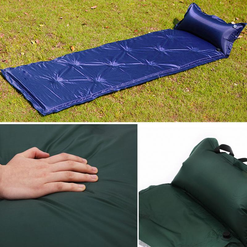 New 1Pcs Self-Inflating Mattress Inflatable Outdoor Bed Pillow Sleeping Pad Air Mat Mattress Tent Picnic Camping Hiking Mat #925 hood stripes car stickers decals car styling for mini cooper s countryman clubman paceman r56 r60 r61 f54 f55 f56 accessories