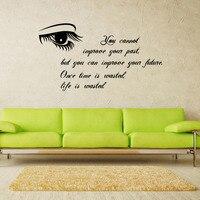 KEDODE Living room decoration oko wzór i tekst Angielski dekoracyjne naklejki ścienne Tanie i wysokiej jakości