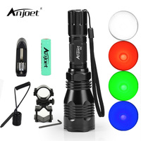 ANJOET Tactical LED Light Flashlight HS 802 Head Torch Single File 1 Mode XPE Q5 Remote
