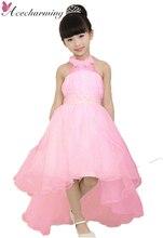 2017 летних девочек одежда принцесса длинное платье одеяние fille enfant детские платья для детей свадьба День Рождения