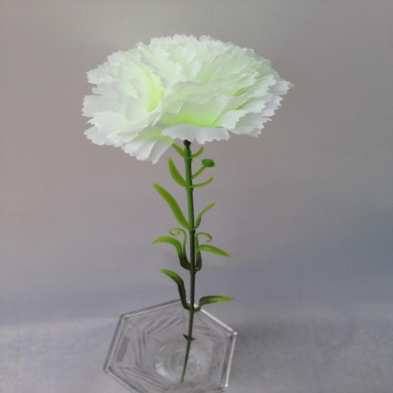 5Pcs Artificial Carnations Flowers Silk Carnation Flower For Wedding Party Decor Home Garden Decoration