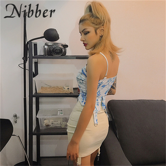 Nibber spring new office lady Elegant mini skirts womens2019summer club party night evening pleated ladies Street casual skirt 49