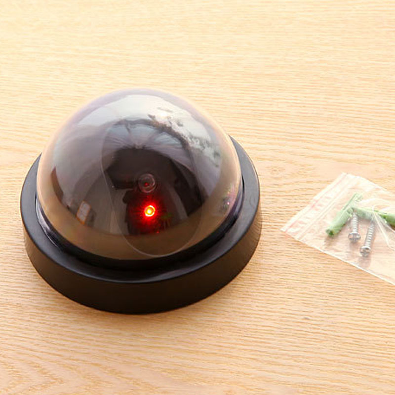 Simulated Security Camera Fake Dome Dummy Camera With Flash LED Light LSMK99