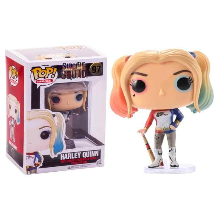 Поп отряд самоубийц Харли Квинн Джокер 10 см Виниловая фигурка Коллекционная модель игрушки для детей подарок на день рождения