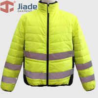 Jiade/Мужская Рабочая Светоотражающая зимняя куртка для взрослых с высокой видимостью, мужская теплая куртка EN471ANSI, зимняя куртка, бесплатная ...