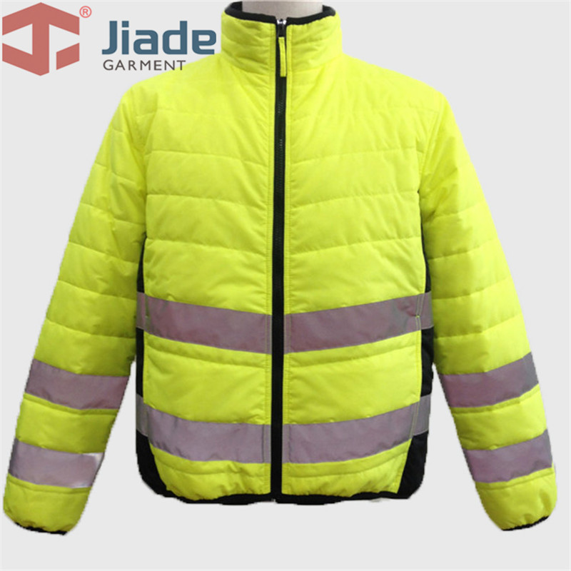 Jiade Adult High Visibility  Men's Work Reflective Winter Jacket Men's Warm Jacket EN471ANSI WinterJacket Free Shipping
