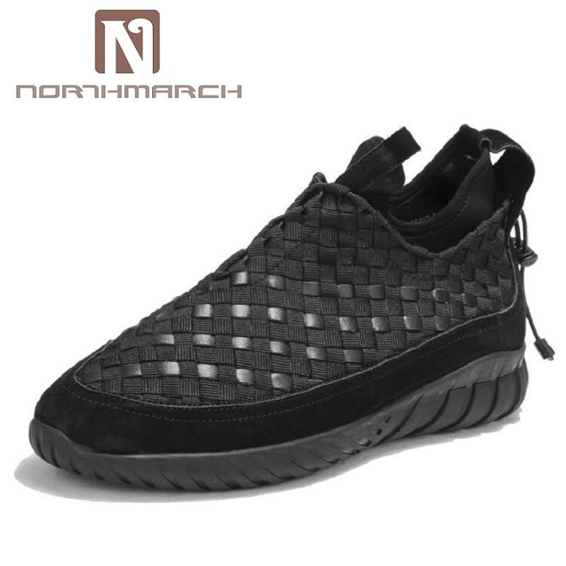 NORTHMARCH Woven Men Casual Shoes Winter Breathable Male Shoes Zapatos Black Outdoor Shoes Sneakers Men Zapatos Para Hombre 2018 real zapatos de golf para hombre authentic japanese golf shoes male breathable sneakers slip outdoor men hot sale top16001