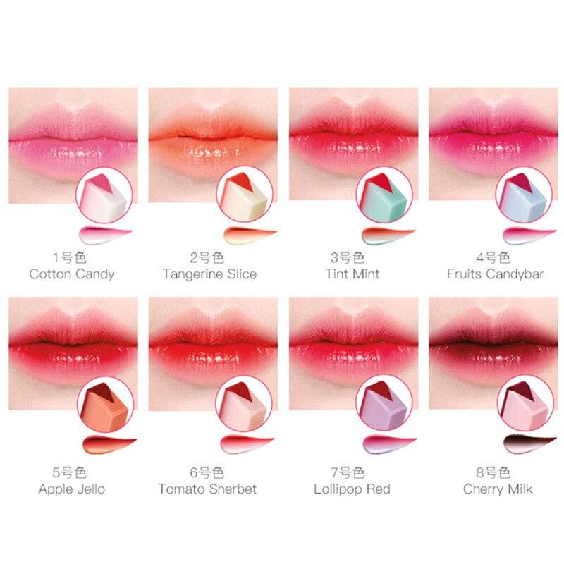 Бренд блеск для губ Губная помада макияж 8 цветов градиент цвета корейский стиль два цвета оттенок помада стойкий водонепроницаемый Бальза...